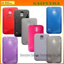 2014 Fashion Transparent TPU Back Cover Case for Samsung Galaxy s5 i9600