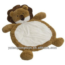 Wholesale plush animal mat, plush baby mat, lion baby mat