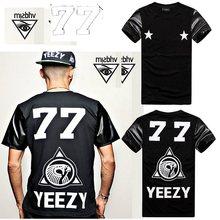 New Series Stars Street Style tshirts Hip pop Rock Men's Young's Unisex T shirt Slim Tshirt Tees leather sleeve t shirts