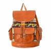 Moroccan Genuine Leather Backpacks decorated With Kilim Rugs