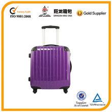 20 inch Purple PC luggage ,smooth luggage tag