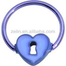 basic gauges Titanium anodized captive bead ring jewelry fashion BCR