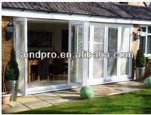 aluminum bi-folding door with 6 panels for house/residence