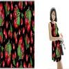 100% viscose rose fashion pattern hawaiian print rayon fabric for skirts