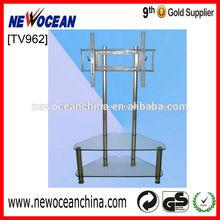 two tiers glass tv shelf brackets tv / lcd stand--TV 962