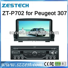 Zestech double din car dvd gps for peugeot 307 with steering wheel control