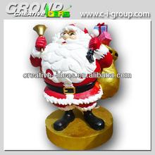Giant Santa Clause figure , Christmas fibreglass Santa Decoration for Outdoors