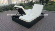 wholesale aluminum outdoor sunbed , round lounge chair
