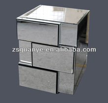 cheap mirrored nightstand with 3 drawers