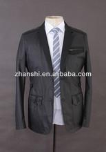 2015 hochwertige neueste lässigen schwarzen anzug jacke für männer