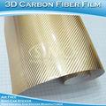 Caliente!!!! Uv protección de cromo 3d de fibra de carbono de papel de aluminio película inteligente para el coche