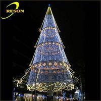 China supplier giant christmas light tree color changing led glass christmas tree