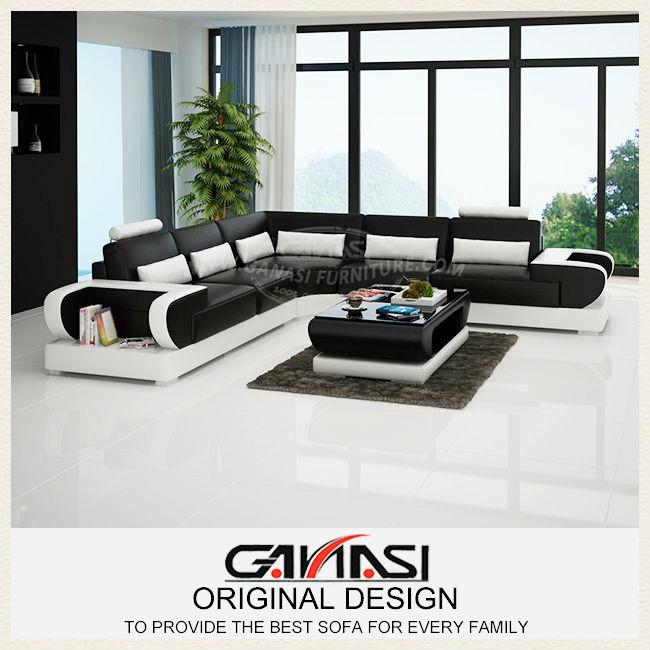 ganasi salon en cuir moderne full aniline leather sofa. Black Bedroom Furniture Sets. Home Design Ideas