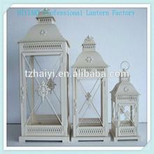 S/3 metal garden candle lantern decorative metal craft metal lanterns