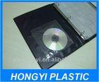 clear self adhesive plastic bag ,soft VINYL adhesive cd sleeve , self adhesive sticker DVD pouch