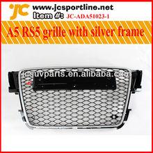 11 - 12 A5 RS5 neumática negro de malla de plata marco de la pintura para AUDI A5 RS5 frente miel parrilla se adapta a 2011 - 2012 A5 coche