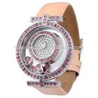 Women high leather strap top luxury diamond watches BD71063