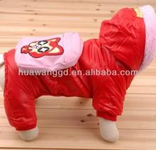 Fashion red cat jumpsuit, cheap snow clothes, winter cat clothes