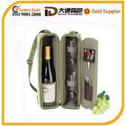 Fashion wholesale canvas wine bottle cooler bag for picnic