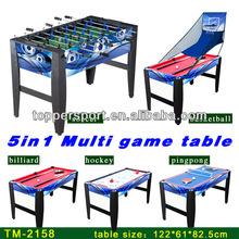 "4ft 5 in1 multifunction game table 48""billiard soccer hockey basketball tennis"
