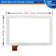 Original Screen Glass Lens Touch Digitizer Samsung Tab 10.1 P7510 P7500 , Size 25.1cm*16.6cm color blanco, GK-089
