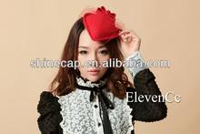 Women wool felt wholesale mini hats