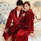 High Quality Fashion Winter Men's bathrobe Women Robe Male night Gown Robe Big Size Lovers Sleepwear Thick Warm