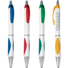 Latest stylish plastic slogan ballpoint pen