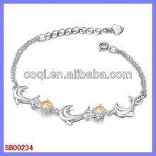 wholesale fashion stainless steel bracelet chinese tradition jade bracelet