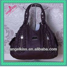 2014 angelkiss pu handbag bulk handbags china leisure washed handbag