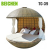 Modern outdoor patio rattan day lounger furniture bali day bed
