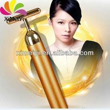 mini handheld massage roller 24k gold beauty bar for skin care