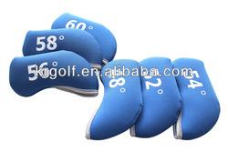 neoprene custom golf iron head cover custom golf iron wedge covers