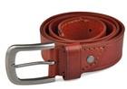 Antic silver pin buckle of tot sale 38mm width man's genuine leather belt