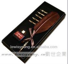 Luxury art pen set,feather dip pen,export feather pen, factory for pen sale