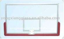 Transparent glass basketball backboard,removable backboard