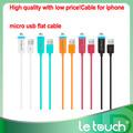 低価格で高品質! iphoneマイクロusbケーブルのためのフラットケーブル