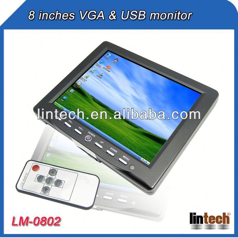 Car Lcd Monitor With Usb Usb/av Inputs 8 Inch Car Lcd