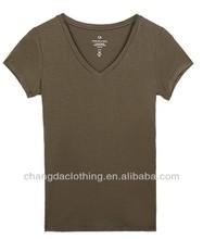 wholesale plain color lady t-shirts in various colors