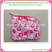 Satin material lipstick printing cosmetic bag