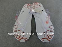 high quality eva white pvc hotel slippers