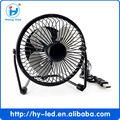 Usb mini ventilador girando 360 ventilador de mesa de metal preto e um elétrico ventilador de arrefecimento ce rohs hy-04