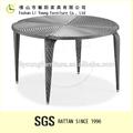 El diseño de morden baratos de mimbre redonda mesa de comedor y sillas lg55-8342