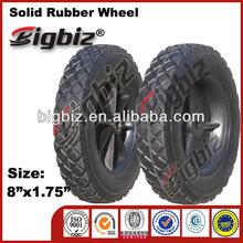 Rubber wagon wheels, wheel barrow solid rubber wheels 8 inch