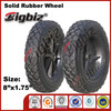 Rubber wagon wheels, wheel barrow solid rubber wheels 8 inch