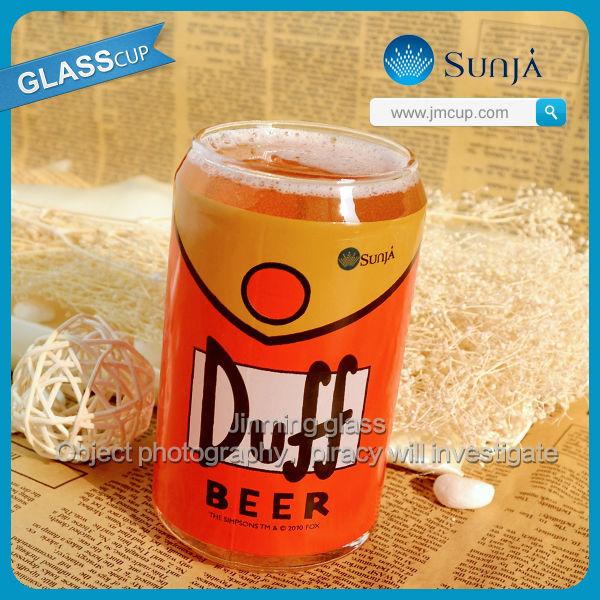 Pode moldar Duff cerveja copo de vidro