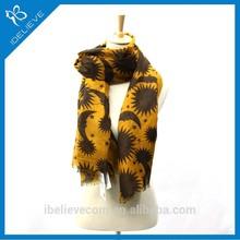 100%polyester design muffler long rhombus shawl scarf