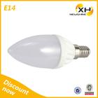 UL Approved 220 Volt SMD 3014 3 Watt Ceramic LED Candle Bulb Light