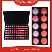 cosmetics wholesale! Guangzhou Hansha new product 66 color makeup lip palette, lip gloss, your logo lipgloss