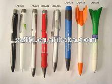 2014 promotional rocket fashlight ball pen ,logo projector fan pen, projector plastic ball pen